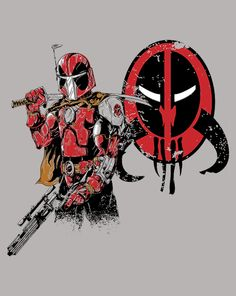 Marvelous Bounty Hunter | $10 Deadpool and Boba Fett mashup tee from ShirtPunch today only!