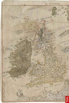 Flemish cartographer Gerardus Mercator was born on the 5 March  1512. Here is a map of the British Isles from Mercator's Atlas of Europe. This atlas is the most important surviving body of Mercator's work in a single volume. >>> Such a pity that Mercator is best known only for his map projection, and not for the fact that he was arguably the single most important cartographer of the 16th century. But I guess that's fame for you.