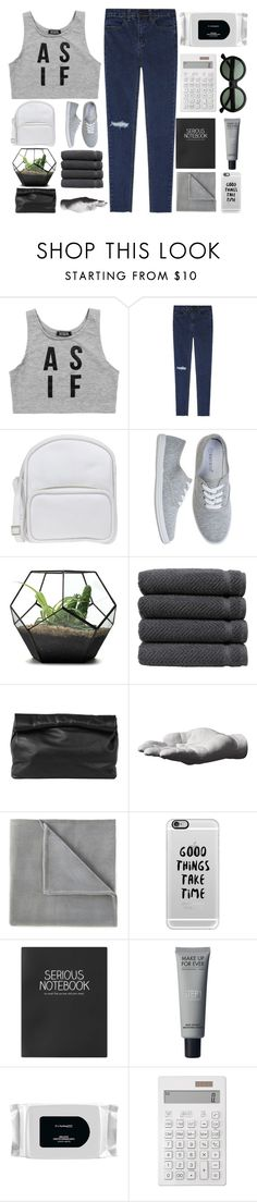 """""""you dont own me"""" by xallyssax ❤ liked on Polyvore featuring Dimepiece, Jil Sander Navy, Linum Home Textiles, Marie Turnor, Harry Allen, Vellux, Casetify, Topshop, MAC Cosmetics and Muji"""