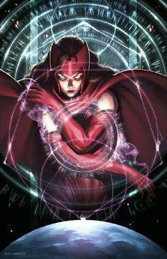 Scarlet Witch (X-Men/Avengers) Marvel Comics, Heros Comics, Marvel Art, Marvel Heroes, Marvel Avengers, Captain Marvel, Marvel Women, Marvel Girls, Comics Girls