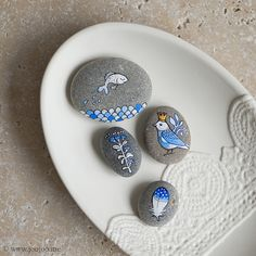 Cobalt blue pebbles by {JooJoo}, via Flickr