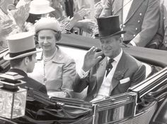 Passion for racing: The Queen and the Duke of Edinburgh arrive to watch the runners at Royal Ascot 1985
