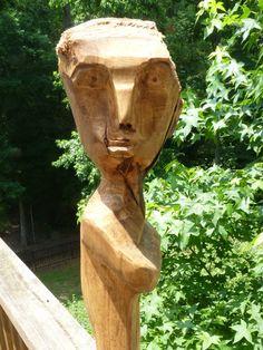 John Lynch Funky Maple Dude Wood Carving He has an by ArtVineyard