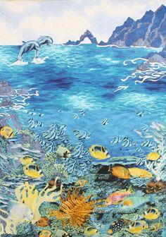 Rob Appel ocean / seascape quilt:  workshop at Road to Califonia