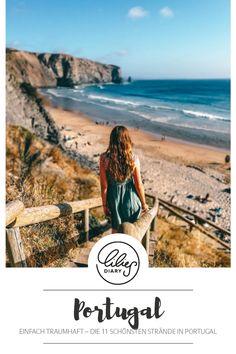 Portugal ist so ein wunderschönes Land mit tollen Stränden. Damit ihr dabei den Überblick behaltet, zeigen wir euch auf www.lilies-diary.com die schönsten #Strände in #Portugal! Portugal, Reisen In Europa, Travel Europe, Strand, Beautiful Places, Road Trip, Bucket, Outdoor, Viajes