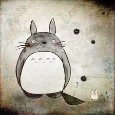 I heart Totoro.  Print by munieca on Etsy.