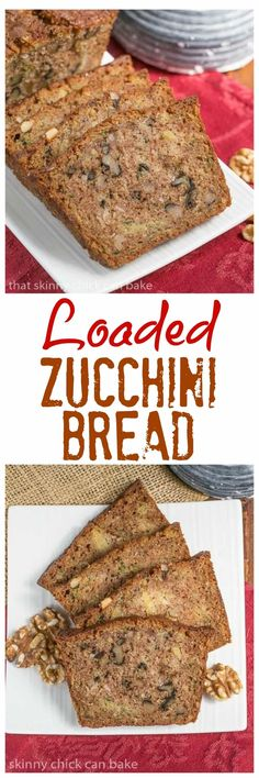 Pineapple Coconut Zucchini Bread | The ultimate summer quick bread with walnuts, pineapple and coconut! @lizzydo