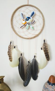 Big Dream Catchers, Dream Catcher Decor, Dream Catcher Nursery, Large Dream Catcher, Feather Dream Catcher, Dream Catcher Boho, Native American Decor, Native American Fashion, Teal Wall Decor