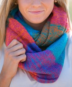 Look at this White Plum Teal Sunset Harvest Infinity Scarf on #zulily today!