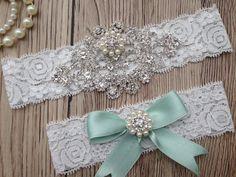 Hey, I found this really awesome Etsy listing at https://www.etsy.com/listing/226474233/wedding-garter-mint-garter-bridal-garter