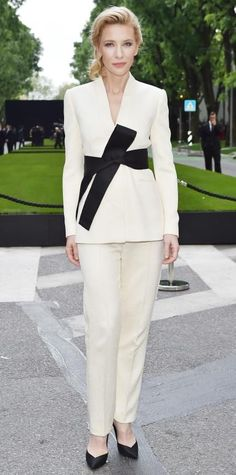 Cate Blanchett in Armani Privé. How about wearing jeans with my blazer and my obi belt