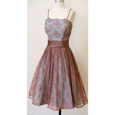 ~1950s Party Prom Dress ❤ liked on Polyvore featuring dresses, party dresses, cocktail prom dress, prom party dresses, holiday party cocktail dresses and prom dresses