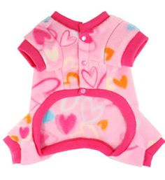 Cute Dog Pjs, Fleece Pet Pajama, Puppy Small PJ, Pajamas For Dogs, Pink, Dog Clothes, Pet Boutique