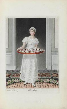"""Klein Mädgen"" SUHR, Christoph (1771-1842). Hamburgische Trachten. Costumes de Hambourg, Hamburg, 1815."