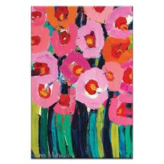 Poppies by Anna Blatman Painting Print on Canvas