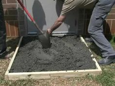 How to make a Concrete Slab with Sakrete - YouTube