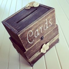 Rustic Wood Card Box Rustic Wedding Card Box by DownInTheBoondocks, $120.00