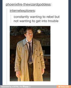 Castiel problems. My problem too. Lol