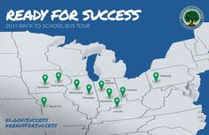 A map of all locations that the tour will visit. See list in blog post.