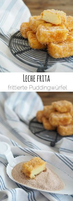 Leche frita aus Spanien {Mein Backtrip durch Europa} - My list of simple and healthy recipes Authentic Mexican Recipes, Beignets, Mexican Dessert Recipes, Weird Food, Polish Recipes, Latin Food, Pie Dessert, Food Lists, Finger Foods