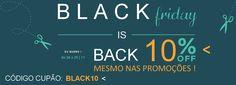¡BlackFriday! Celebra esta Black Friday com desconto de 10% em todas as secções e categorias de beleza, mesmo nas promoções!! CÓDIGO CUPÃO >>> BLACK10 <<< . Possibilidades INFINITA(s) para clientes exigentes! | Celebrate this Black Friday with 10% discount on all sections and beauty categories, even in promotions !! COUPON CODE >>> BLACK10 <<< . INFINITE possibilities for demanding customers!