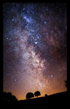.beautiful night sky painting