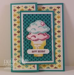 Joy Fold Cards for our Saturday Blog Hop at Create with Connie & Mary. I used Stampin' Up! Sprinkles of Life and Bohemian DSP. Debbie Henderson, Debbie's Designs.