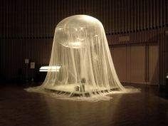 Fuan 浮庵   A new form of tea house made of the lightest fabric in the world…