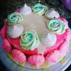 I made my own birthday cake! Lemon with raspberry jam center and raspberry buttercream