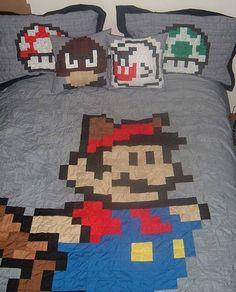Super Mario Bros bed