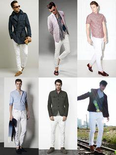 FASHIONBEANS ** The 2014 Men's Jeans Guide: Lookbook Inspiration #mensfashion #white