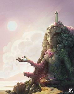Steven Universe Temple paintover, Carlos Nuñez Ruiz on ArtStation at www.artstation.co…   How Do It Info