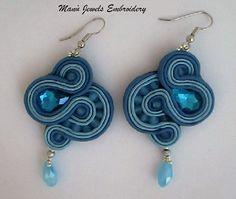orecchini soutache azzurri