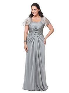 Bridess Women's Plus Size Evening Dress Ruched Formal Gow... https://www.amazon.com/dp/B01G1SG1M0/ref=cm_sw_r_pi_dp_GxvFxb6N7FKGV
