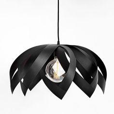 LOTUS BLACK wooden veneer light