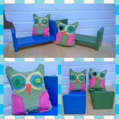 Owl, Arts And Crafts, Collage, Woodworking, Textiles, Sewing, Dressmaking, Collages, Couture