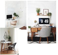 Minimal Office inspiration, office shelving