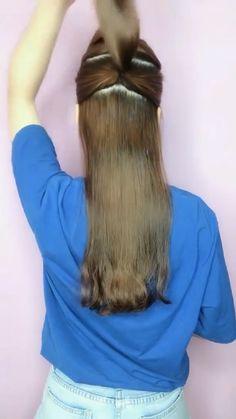 Hairdo For Long Hair, Hair Due, Bun Hairstyles For Long Hair, Hairstyles Haircuts, Pretty Hairstyles, Braided Hairstyles, Front Hair Styles, Medium Hair Styles, Natural Hair Styles