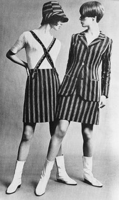 because of Mary Quant, I wore my suspenders like this!