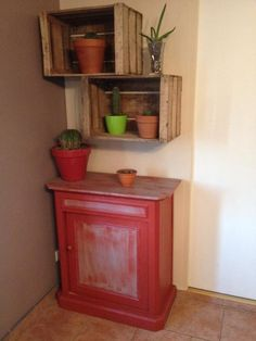caisse tag re murale id es sur pinterest tag res en caisse caisses en bois et. Black Bedroom Furniture Sets. Home Design Ideas