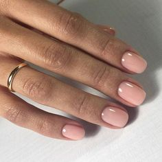 – Nageldesign – Nail Art – Nagellack – Nail Polish – Nailart – Nails, You can collect images you discovered organize them, add your own ideas to your collections and share with other people. Manicure Y Pedicure, Pedicures, Mani Pedi, Short Nail Designs, Natural Nail Designs, Light Pink Nail Designs, Nagel Gel, Powder Nails, Nude Nails