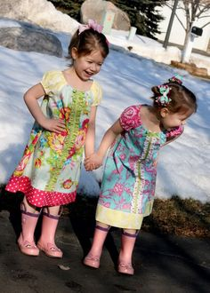 girls' ruffle dress free tutorial