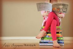 Reading Aimee Bergmann Photography - Photography Books - Ideas of Photography Books - Reading Aimee Bergmann Photography Little Girl Photography, Toddler Photography, Book Photography, Indoor Photography, First Day Of School Pictures, School Photos, Preschool Photography, Kind Photo, Kindergarten Photos