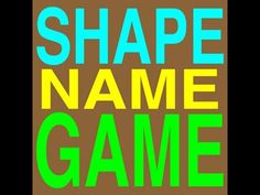 Shape Song!  Starts with easy shapes and gets more complicated!  Catchy beat! :)
