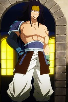 Gajeel looking so unbelievable cool.