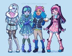Snow Day Monster High Designs by Azure-and-Copper