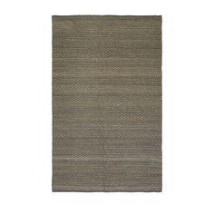 Jute Chenille Herringbone Rug, 5'x8', Natural/Slate