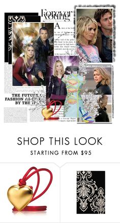 """#45 - Rose Tyler/Dr.Who"" by fashionqueen76 ❤ liked on Polyvore featuring Scoop, Versace, Estée Lauder, Brian Atwood and Olsen"