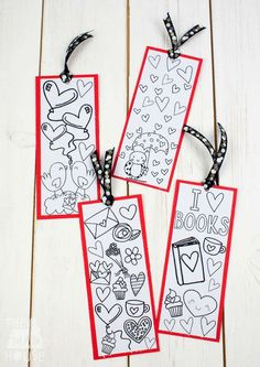 Download your own Love Books free colouring bookmarks.  These are perfect for any book lovers or fans of colouring and a great valentines card alternative.