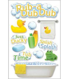 Paper House 3-D Sticker-Rub A Dub Dub